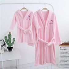 Mother & Daughter Pajamas Warm Nightgown Flannel Bath Robe Girl adult Hoodies