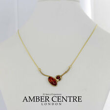 Italian Made Modern Baltic Amber Necklace in 9ct Gold -GN0061 RRP£435!!!