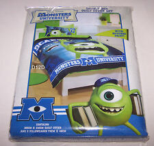 Disney Pixar Monsters University Double Bed Printed Quilt Cover Set New