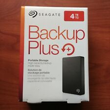 BRAND NEW Seagate Backup Plus Slim 4TB External Hard Drive ( STDR4000100 ) BLACK