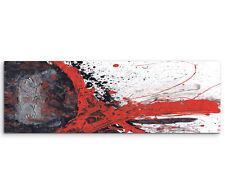 Leinwandbild Panorama schwarz grau rot weiß Paul Sinus Abstrakt_652_150x50cm