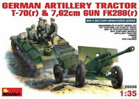 Miniart 1:35 T-70(r) German Artillery Tractor & 7.62 Gun With Crew Model Kit