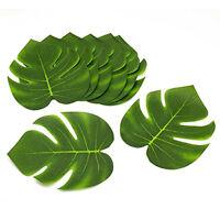 Tropical Hawaiian Green Polyester Leaves Luau Moana Party Table Decorations Bulk