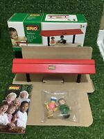 BRIO PLATFORM WITH FIGURES 33367 BOXED WOODEN TOY PRE-SCHOOL *NEW CONTENTS*