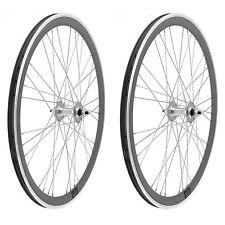 2x Llanta Rueda para Bicicleta Fixed Fixied 700 Aluminio Rodamientos PLATA 3750