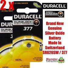 2 PCS DURACELL SR626SW 377 1.55V SILVER OXIDE BATTERY FOR WATCH NEW & GENUINE