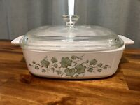 Vintage 1998-2000 Callaway Corning Ware A-1-B 1L Casserole Dish Pyrex Lid
