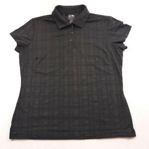 Adidas Climacool Womens Size Medium Black Semi Fitted Golf Polo Shirt