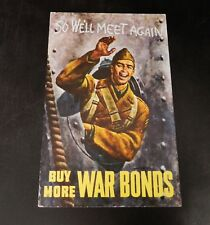 Buy More War Bonds Postcard Unused U.S. Treasury Department War Savings Staff