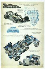 Lotus 95T, Formula One Race Car, Auto, Info Construction --- Technical Postcard