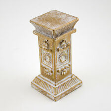 12 Pcs Gold Mini Ornate Stone Pedestal Greek Roman Wedding Pillar Table Decor
