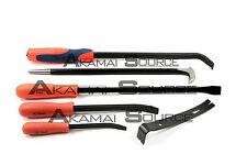 6pc Mechanic Pry Bar Tool Set Automotive Shop Tools Heel Flat Curved Auto Tool