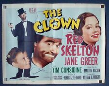 CLOWN rare Style B (VG+) 1/2SH Movie Poster 1953 FOLDED Half Sheet Red Skelton