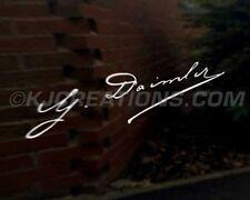 Gottlieb Daimler firma coche decal sticker Mercedes Benz Amg Slk Clase A B C E