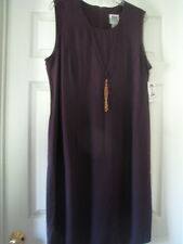 Ladies Purple size 16 dress necklace sleevless A line womens  evening dinner