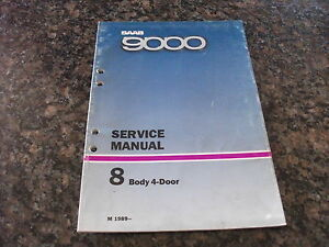 1989- SAAB 9000 Body 4-Door Service Manual