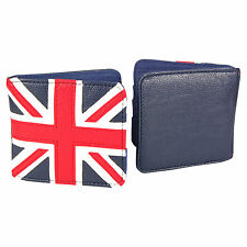 NEW Union Jack Wallet BIFOLD MOD Navy Faux Leather England Ireland Scotland