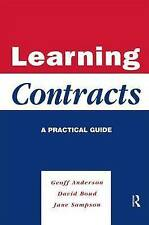 NEW Learning Contracts: A Practical Guide by Anderson  Geoff