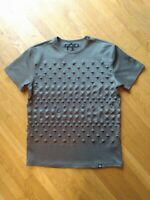 Hudson Outerwear Men's Gray Short Sleeve Raised 3D Star T Shirt Size Large
