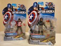 Marvel Captain America First Avenger figures 2 Winter Soldier 04 & U.S. Agent 09