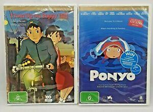 PONYO + FROM UP ON POPPY HILL DVD Studio Ghibli NEW SEALED Miyazaki 3 Discs
