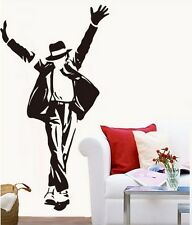 Large Black MJ Dancing Michael Jackson Wall Sticker Decal Vinyl Art Home Decor