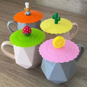 Goodiz Silicone Anti-Dust Suction Magic Mug Cup Cover Lid Cap No Spill Hot Drink