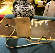 NWT 55383 AUTHENTIC Tory Burch Mini Phone Case Gold Leather mini Cross Body Bag