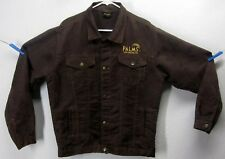 Palms Las Vegas Casino Medium Jacket Embroidered Logo Brown Cotton Blend Button