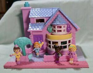 1993 Vintage Bluebird Polly Pocket  Bay Window House - Lights Up