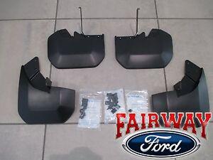 15 thru 20 Transit 150 250 350 OEM Ford Molded Splash Guards Mud Flaps 4-pc SRW