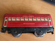 Vintage Marx O Scale Train Car Tin Plate Metal Marx BOGOTA Pullman [5356]