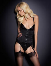 55333c28bd AGENT PROVOCATEUR SOIREE BLACK SILK BILLY BODY SIZE 3 MEDIUM UK 10-12 NEW