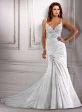 MAGGIE SOTTERO COUTURE 💕 $1499 8 FRANCINE IVORY TAFFETA BEADED LACE BRIDAL GOWN