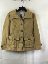 Gap Women's Size Small Tan Short Trench Coat Button Up