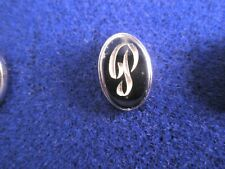 P Initials Monogram Letter Font Vintage Lapel Pin Father's Day gift