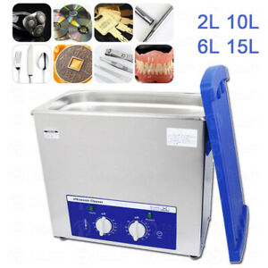 2L 6L 10L 15L Stainless Steel Ultrasonic Cleaner Jewelry Watch Washing Machine