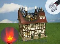 S870 Flackerlicht 3mm LEDs incl. Steuerung brandflackern Feuer brennendes Haus