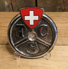 Vintage TCS Touring Club SUISSE SWISS  Metal Car Emblem Hood Grill Badge