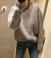 Fashion Lady Girls Casual Luxury Cashmere Knitwear Jumper Pullover Sweater