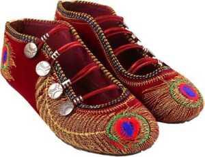 StepIndia Indian Punjabi Pakistani  Embroidered Ethnic Handmade Shoes for women