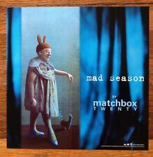 Matchbox Twenty Mad Season RARE promo 12 x 12 poster flat '00