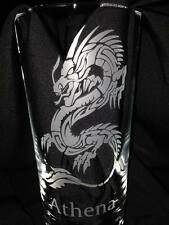 Engraved Highball Glass with Dragon Design - New - Personalised