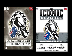 AFL Collingwood 1990 Victory Pack & Iconic Clashes Brand New 8 DVDS.