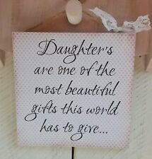 Handmade plaque sign gift present daughter mother special new baby christmas