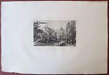 Eau-forte originale, Le ruisseau à Salins, Gaston Coindre, Cadart