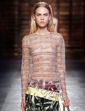 EMILIO PUCCI Embroidered Iconic Runway Dress Top Blouse BNWT UK 8 IT 40 £1295