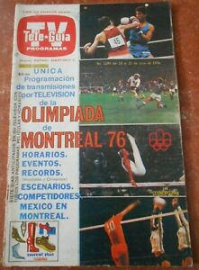 TV GUIDE magazine OLYMPIC GAMES MONTREAL 1976 poster COCA COLA ad PROGRAMMATION