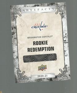 20/21 ARTIFACTS WASHINGTON CAPITALS ROOKIE REDEMPTION #210 UNSCRATCHED NRMT