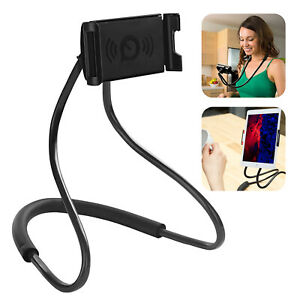 Universal Neck Cell Phone Holder Lazy Bracket Hand-Free Stand For iPhone Android